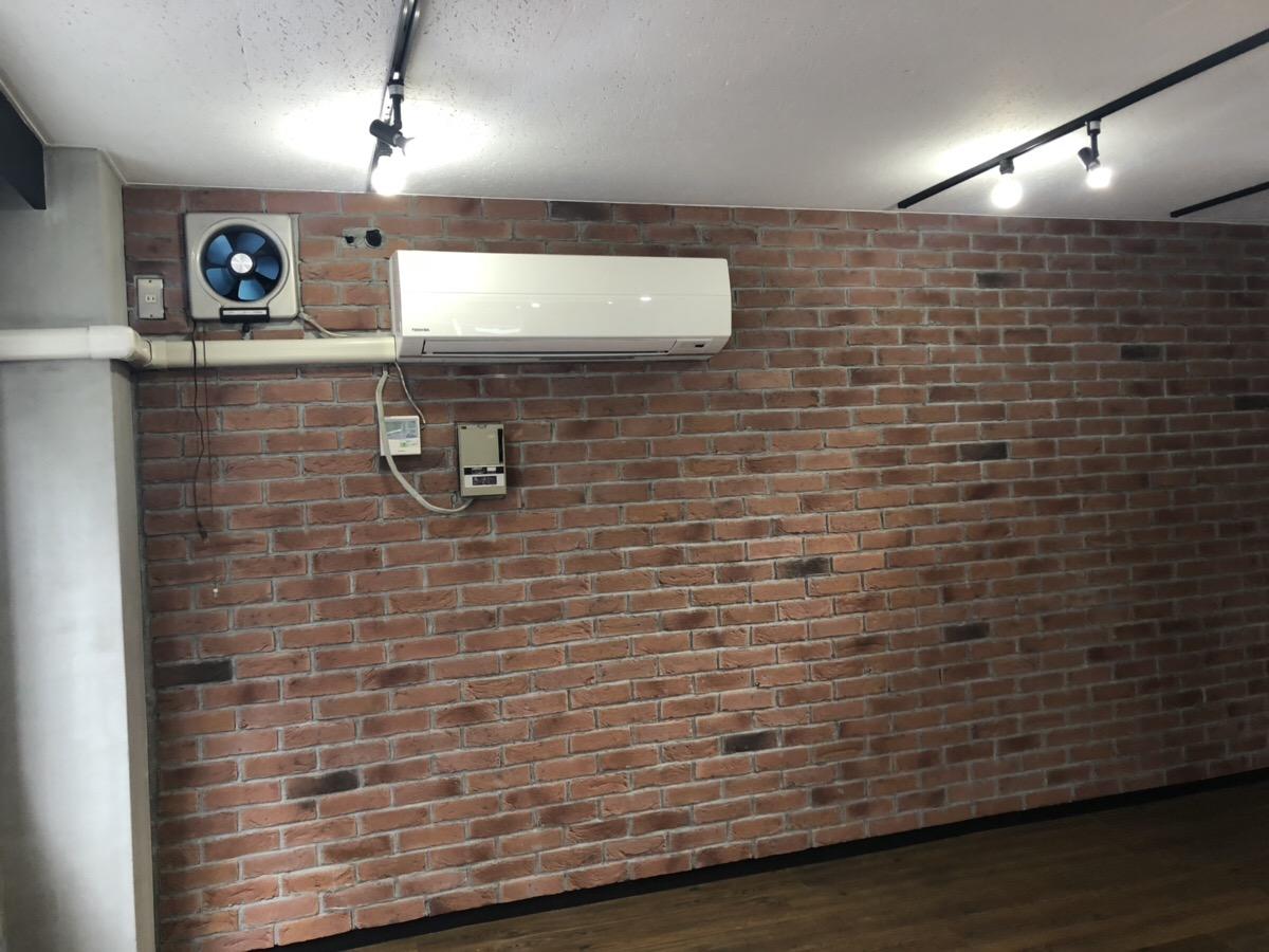 千代田区【リノベーションオフィス】<br>内壁は本物のレンガを使用してます!!
