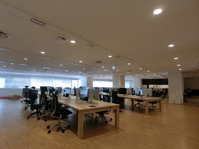 【居抜き】渋谷、100坪。超希少。<br>キッチンカウンターで会話が弾むオフィス