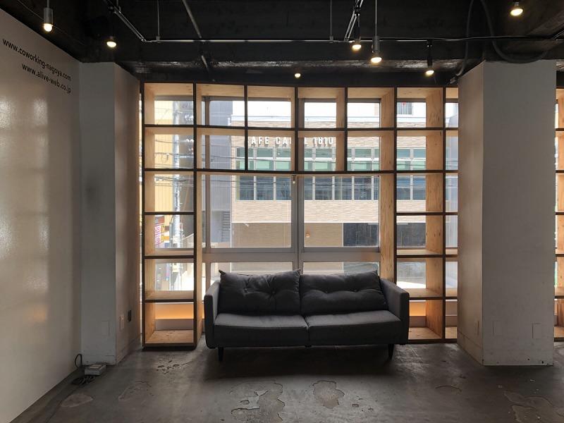 【居抜きオフィス】伏見エリア、約20坪。<br>コンクリートむき出しの男前オフィス!<br>