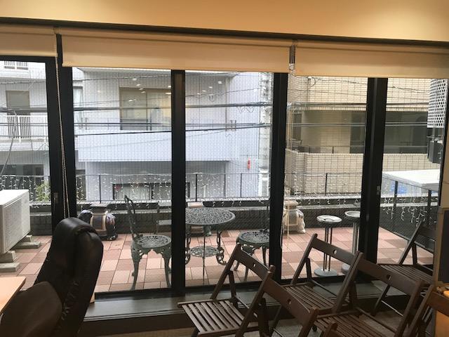 【居抜き】表参道、約45坪。メゾネット。<br>広いテラスがある家具付きのオフィス