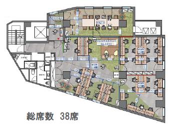 【内装付き】高輪台、約60坪。駅近。<br>貸主負担で自由に内装施工できる物件