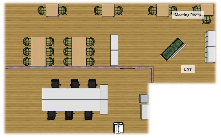 【居抜き】天神、約30坪。<br>広めのオープンスペースがあるデザインオフィス。
