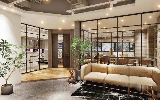 【セットアップ】淡路町・小川町、約50坪。 会議室・フリースペース付きのオフィス