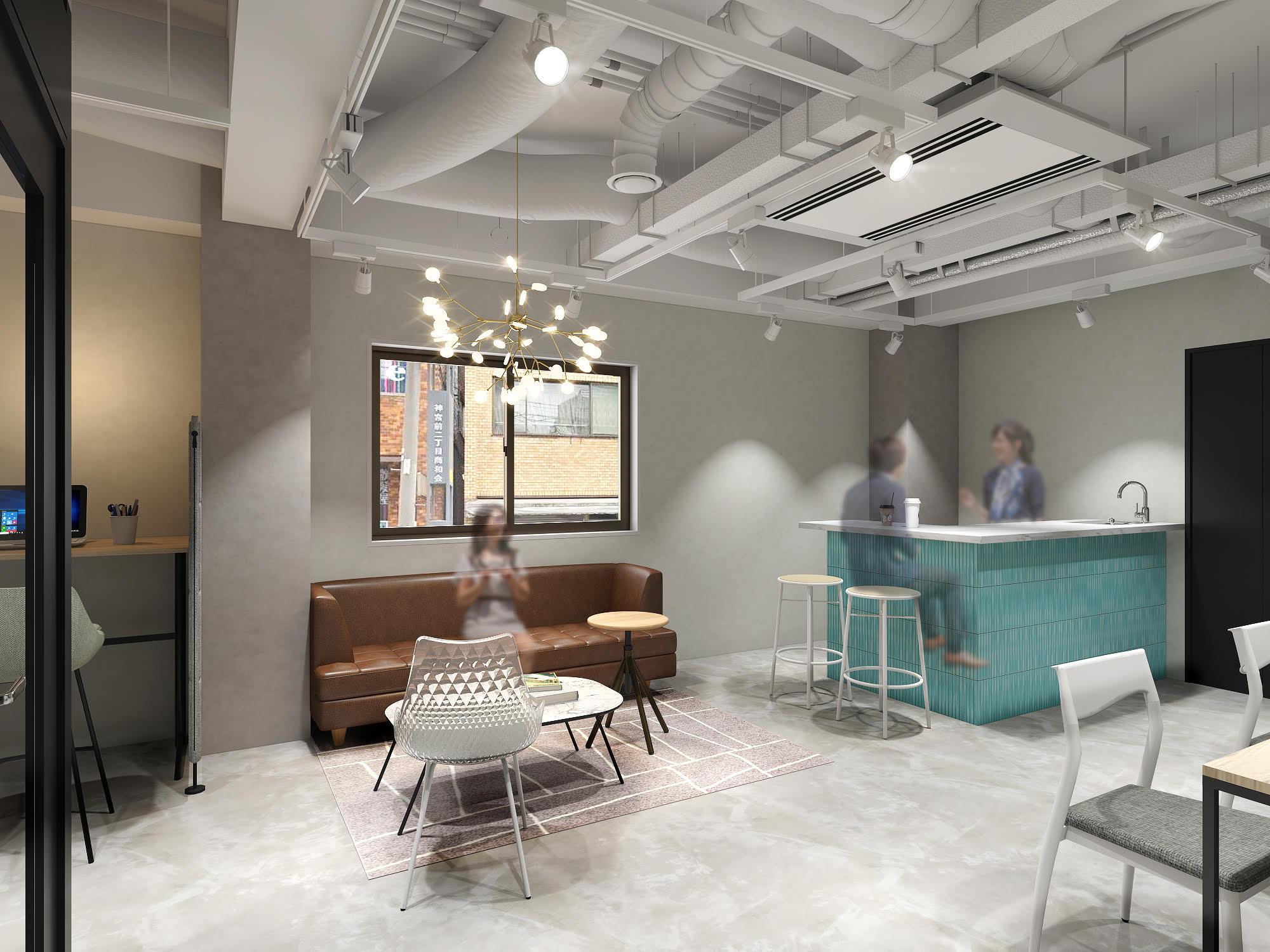 【セットアップ】両国駅前、家具+内装造作付き、入退去時のコストを大幅に削減できるオフィス