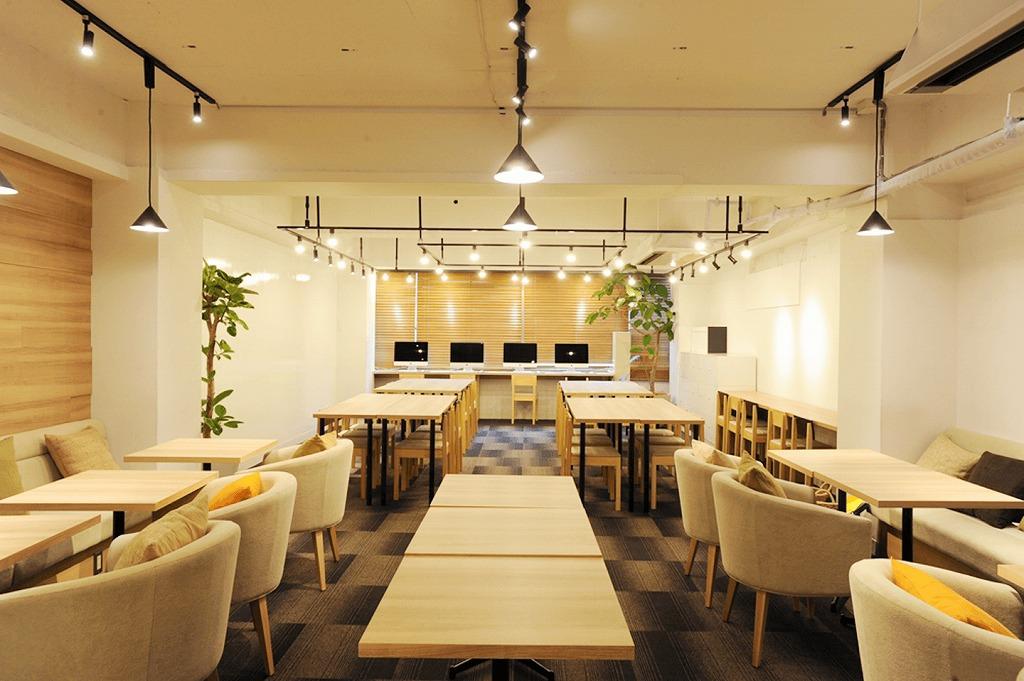 【居抜き】渋谷エリア 温かみのある色味で統一されたデザインオフィス!