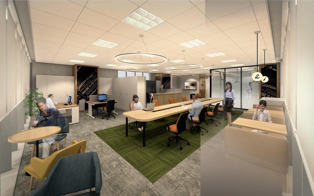 【セットアップ】複数プランがある新築内装家具付きオフィス!